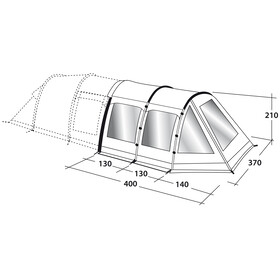 Outwell Roswell 5A Front Awning